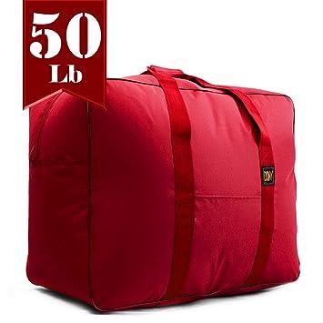 Travel Duffle Bag Bolsa Maleta de Lona 50 Lb Capacity Luggage Tote (Red)