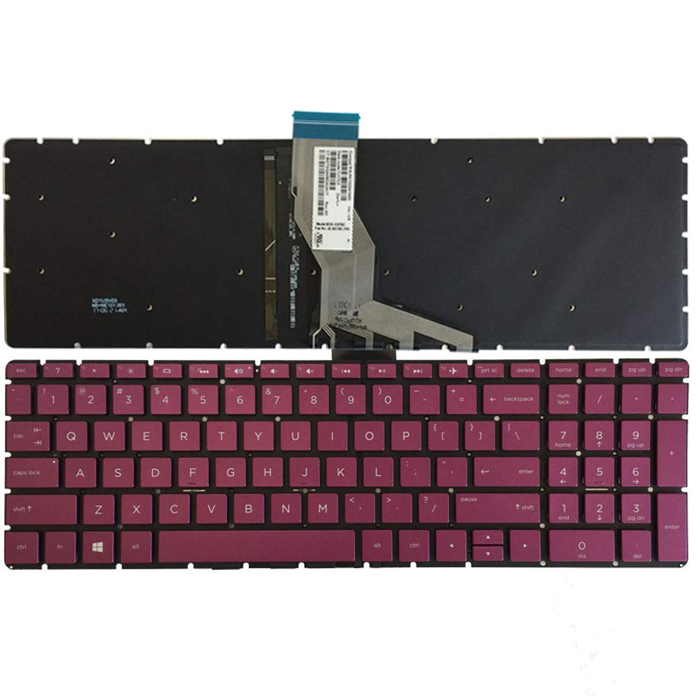 New HP 250 G6 255 G6 15-BS 15T-BS 15-BW 15Z-BW Keyboard US Black With Backlit