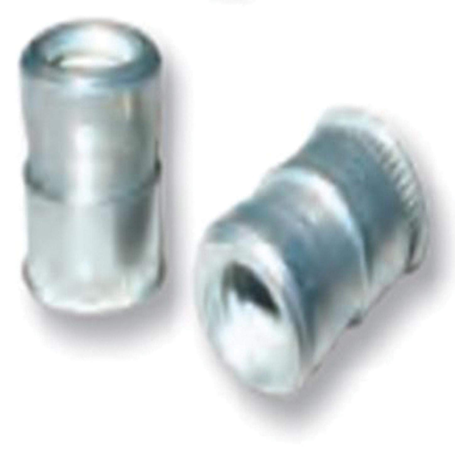 CFT2-3716, Nutsert Insert, 3/8-16, Material Thickness (.030-Up) RND Body Splined, Low PRO HD, Steel, Tin CLR (100 PK) by CFT/CAT Series