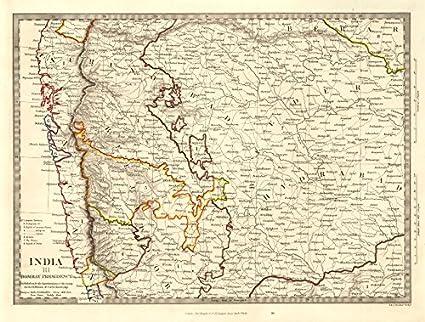 Where Is Hyderabad Located In India Map.Amazon Com India Iii Bombay Presidency Hyderabad Aurangabad