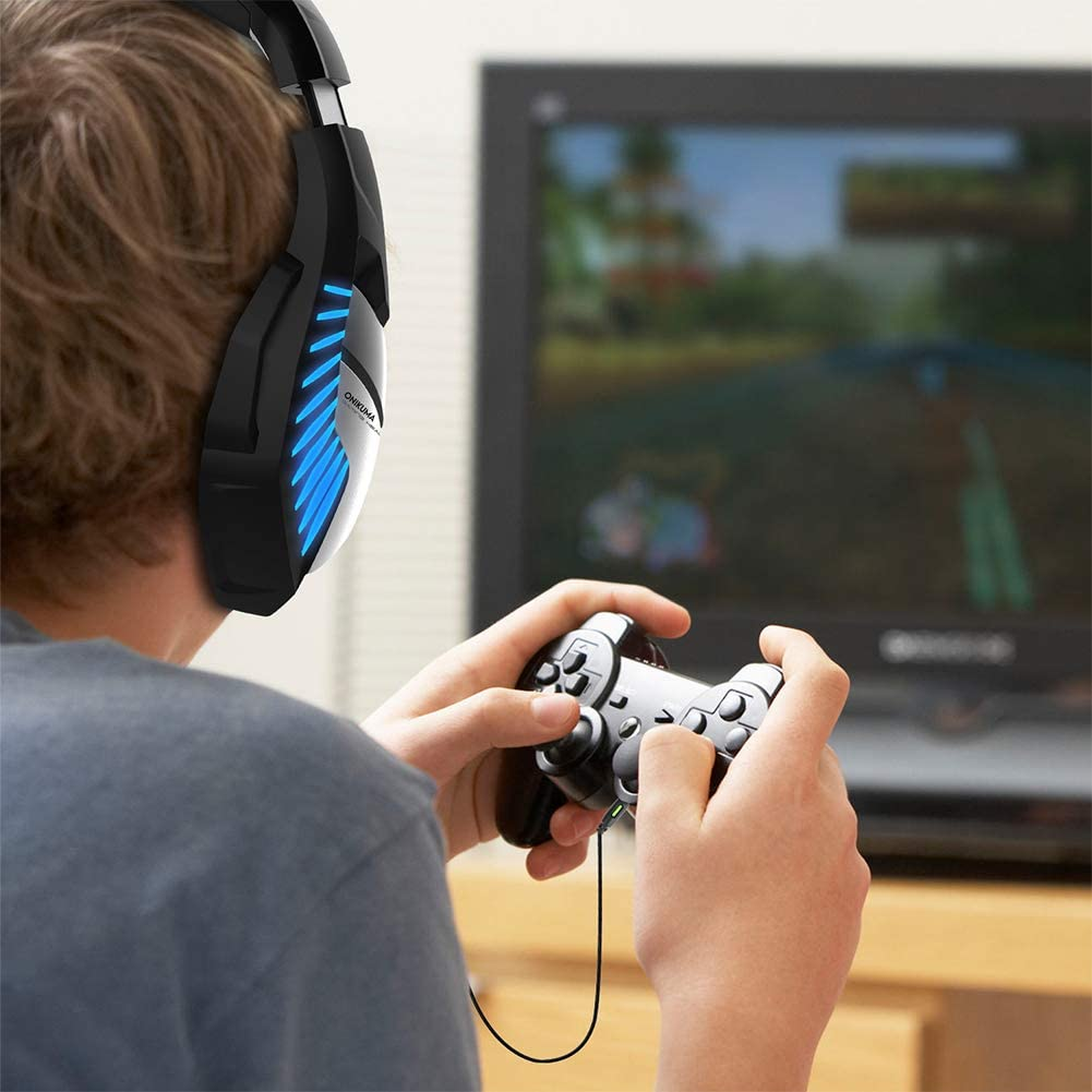 Voice Gaming Headset ZZYJAS Computer Headset,Notebook Desktop Universal Virtual Reality Headset,E-Sports Gaming Headset,Headset-Blue