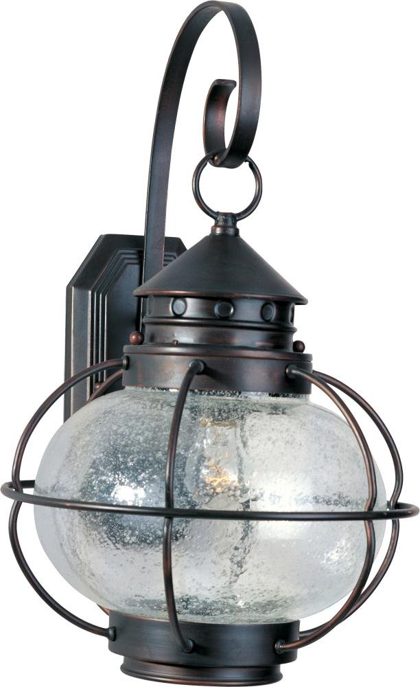 Maxim Lighting 30503CDOI, Portsmouth 1-Light Outdoor Wall Lantern, Oil Rubbed Bronze
