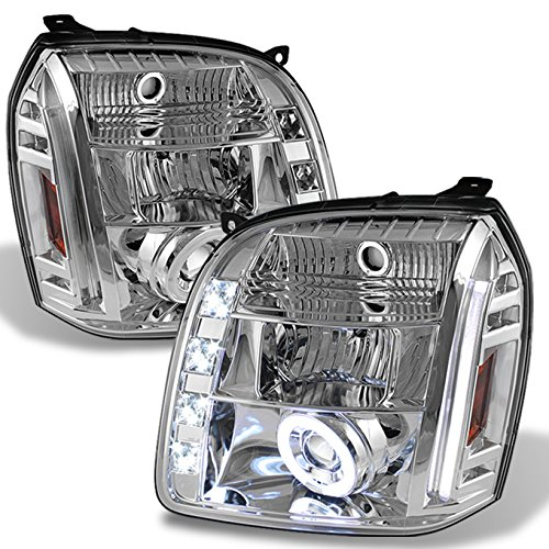 - For GMC Yukon Denali SUV Chrome Clear CCFL Halo LED Projector Headlights Front Lamps Replacement Pair