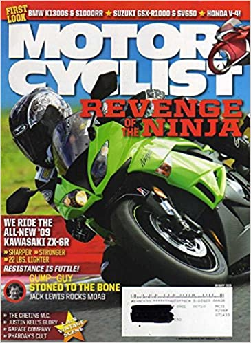 Motorcyclist Magazine January 2009 REVENGE OF NINJA Kawasaki ...