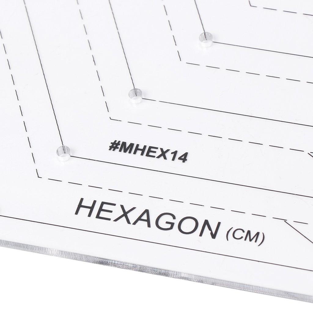 Mess-Lineal Hexagon Quilting Lineal Patchwork Kunststoff Schablone DIY N/ähwerkzeug N/ützlich