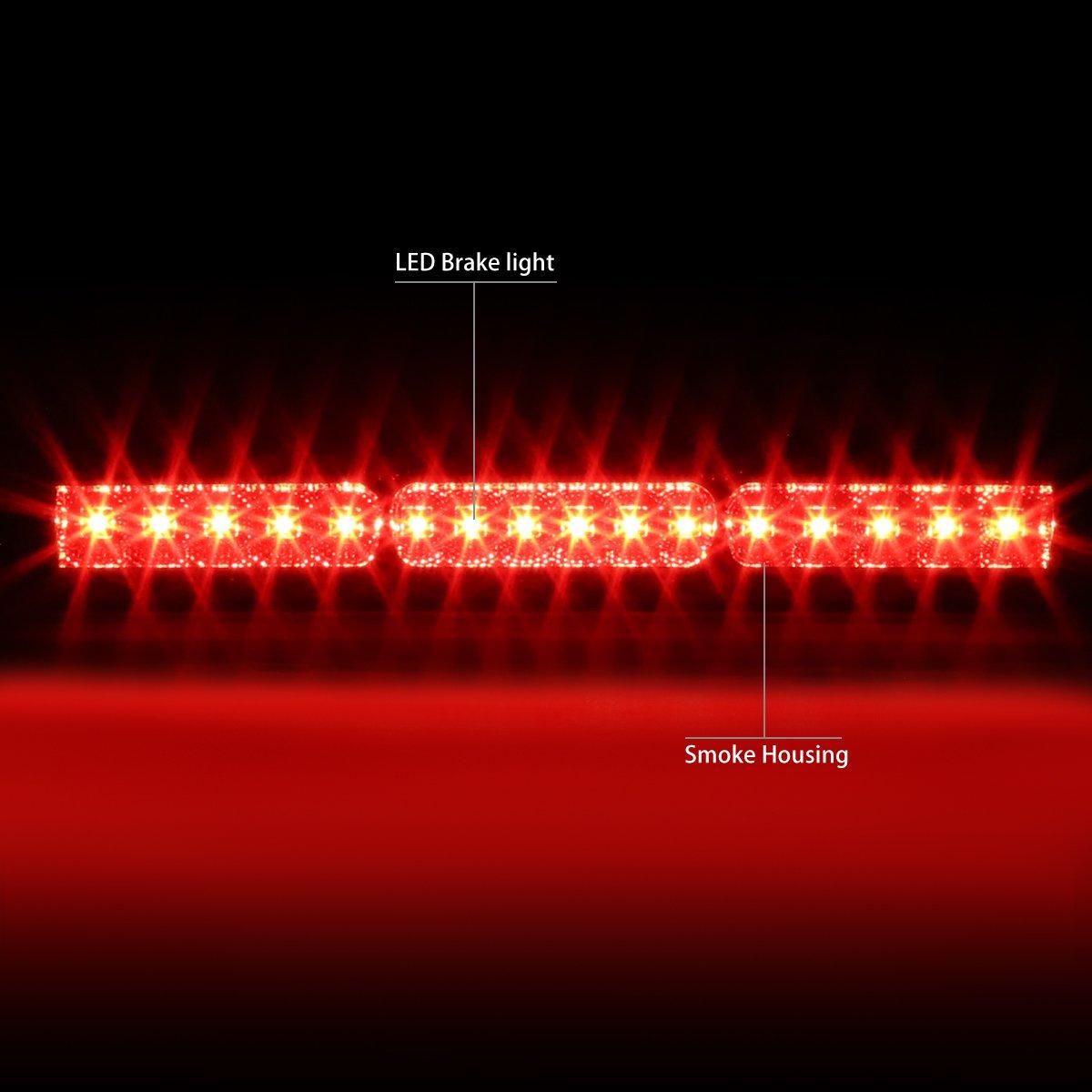 DNA MOTORING 3BL-F15097-LED-T2-SM Third Brake Light