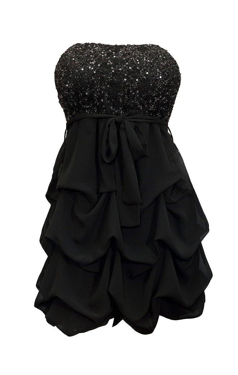 eVogues Women\'s Sequined Princess Ruffle Dress at Amazon Women\'s ...