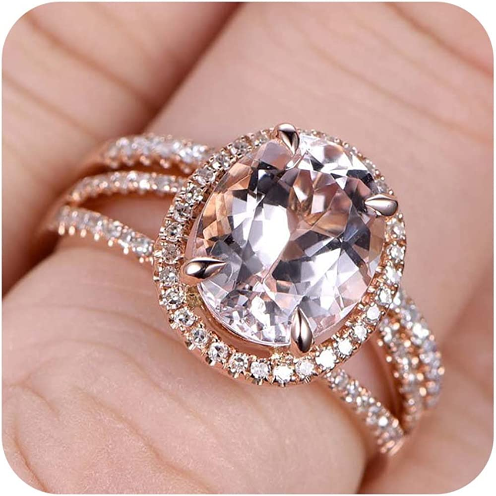 Amazon Com Rudrafashion 6x8mm Pear Cut Morganite Diamond 18k