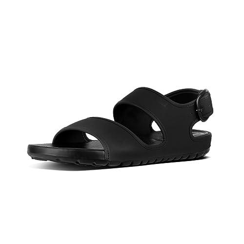 e2b2a3d0302db6 Fit Flop Men s Lido Tm Back-Strap Sandals in Neoprene Flip Flops Black 001