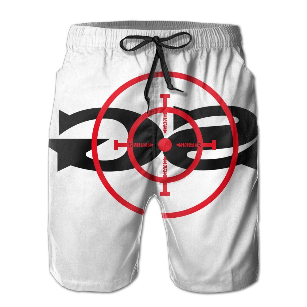 Mens Sniper Gang Gang Target Beach Shorts Swimming Trunks Cargo Shorts
