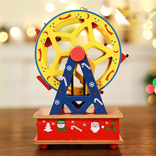 Uojack Caballo Noria Forma Navidad Parte Reloj Mesa decoración ...