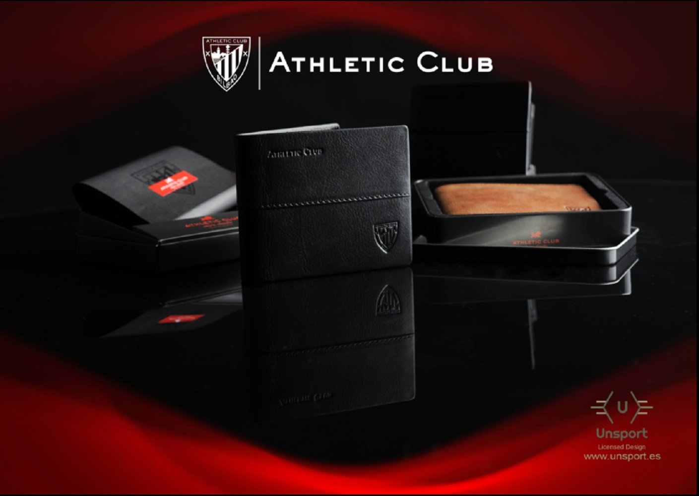 Monedero Tacón Oficial Athletic Club Bilbao de Piel en Color marrón con Billetero y Grabado con Escudo y Letras.: Amazon.es: Equipaje