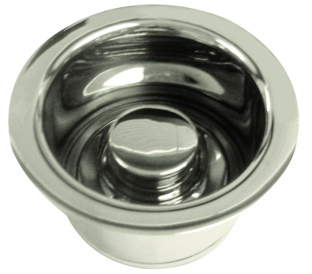 InSinkErator Style Extra-Deep Disposal Flange and Stopper in Polished Nickel