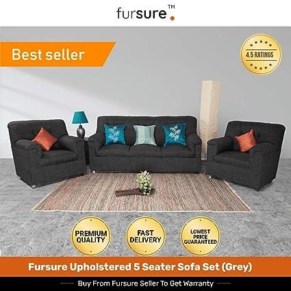 Prime Fursure Upholstered 5 Seater Sofa Set Grey 3 1 1 Modern Style Jute Fabric Material Download Free Architecture Designs Oxytwazosbritishbridgeorg