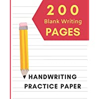 Handwriting Practice Paper: Blank Writing Lined Notebook For Kids - Writing Paper for kids with Dotted Lined   200 pages…