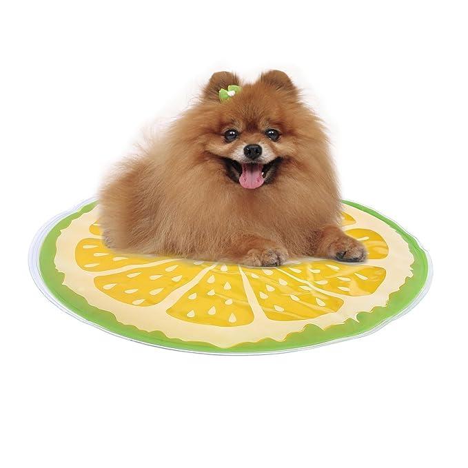Aolvo - Alfombrilla de refrigeración para perro, de PVC, cómoda alfombrilla de gel de refrigeración para perros, para viajes en interiores y exteriores, ...