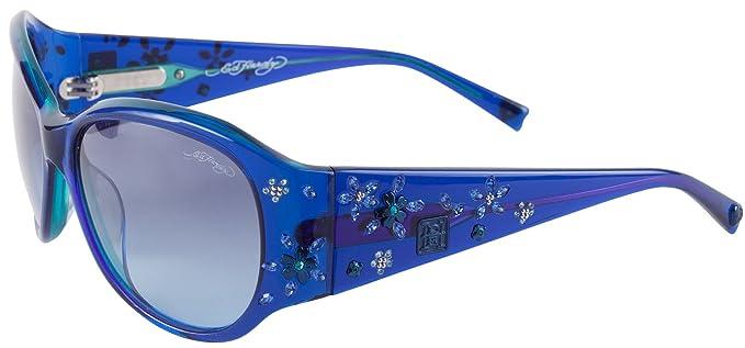 Amazon.com: Ed Hardy Ehs Sakura Flores anteojos de sol Para ...