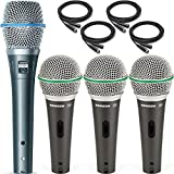 Shure BETA 87A Condenser Microphone with 3x Samson Q6 Vocal Microphone Pack and Cables