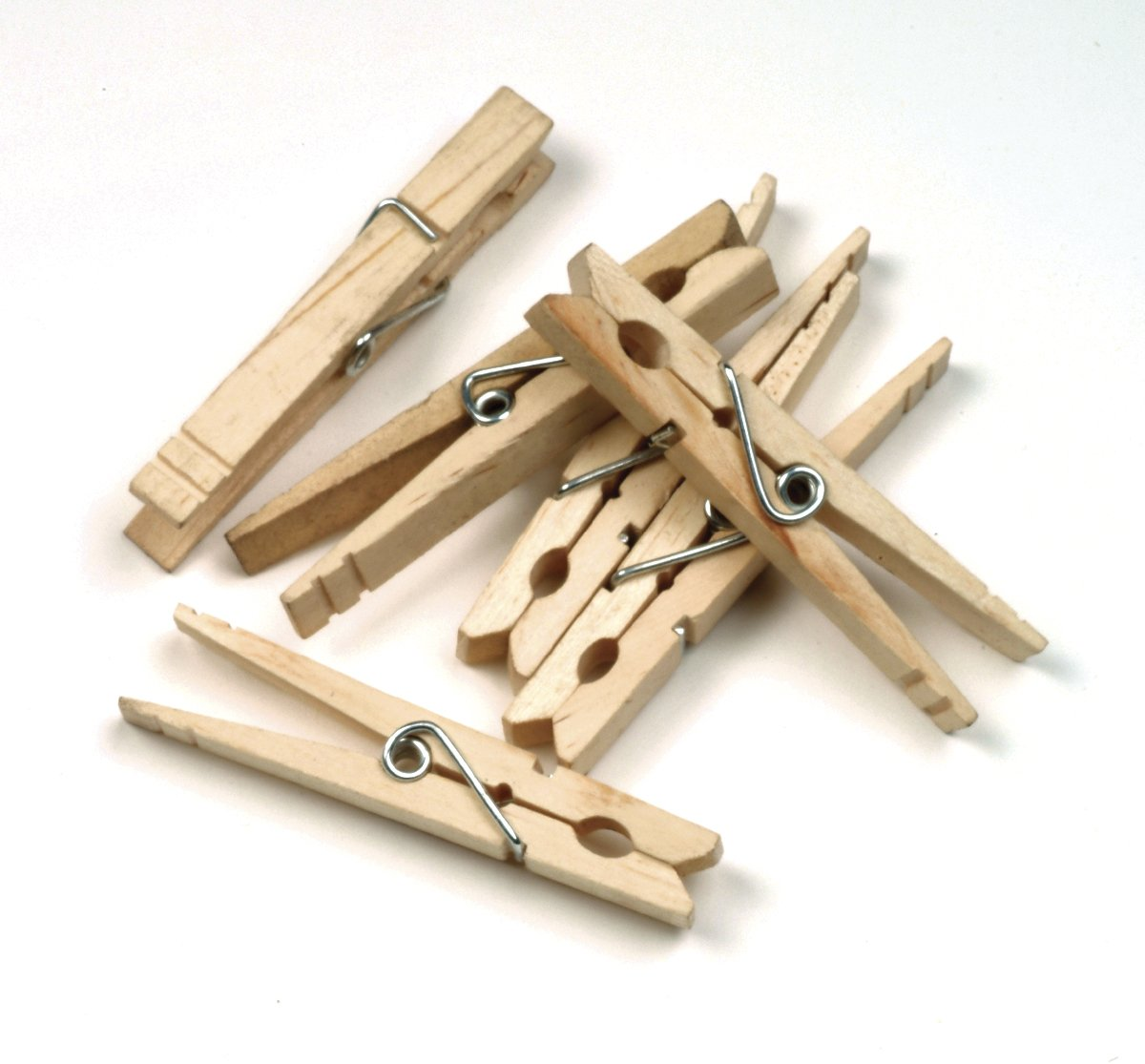 500 Pcs Wood Clothespins Wooden Laundry Clothes Pins Large Spring Regular Size