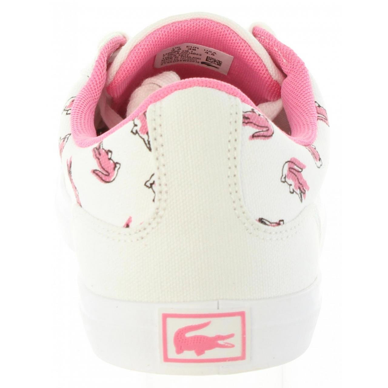 9fd5010f2d LACOSTE Sportif Pour Femme 35CAJ0014 Lerond B53 Wht-Pnk Taille 39:  Amazon.fr: Chaussures et Sacs
