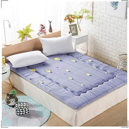 GJFLife Espesado Franela Colchón Tatami Protector de colchón Colchón Espuma, Plegable Dormitorio Cama alfombras Cubre