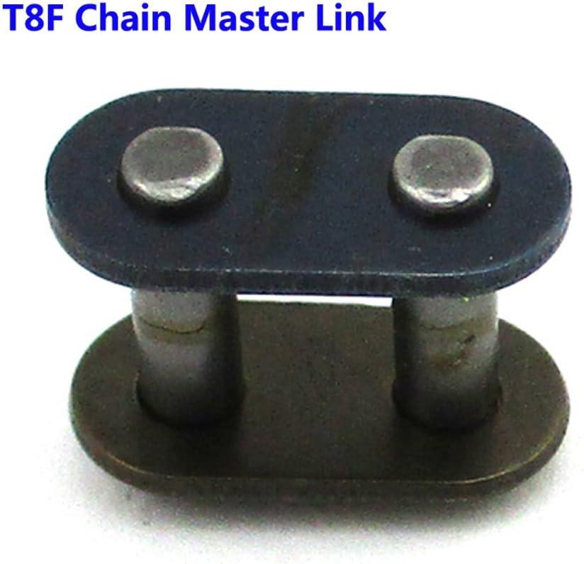 TC-Motor 5pcs//Pack T8F Chain Spare Master Link For 2 Stroke 43cc 47cc 49cc Dirt Super Pocket Bike Motorcycle Mini ATV Quad 4 Wheeler
