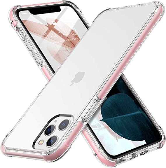 MATEPROX iphone 11 Pro Max Case Clear Thin Slim Anti-Yellow Anti-Slippery Anti-Scratches Cover Shockproof Bumper Case for iphone 11 Pro Max 6.5 inch-Pink