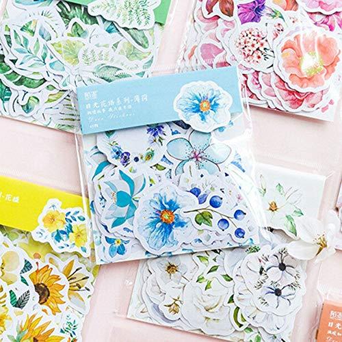 KANGBOOS Tape 8pcs 45 Pcs/Pack Mohamm Kawaii Japanese Decoracion Journal Cute Diary Flower Stickers Scrapbooking Flakes Stationery School Supplies