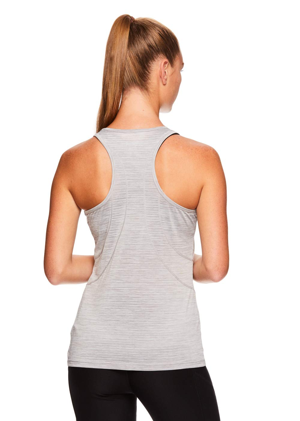 Reebok Women's Dynamic Fitted Performance Racerback Tank Top - Silver Sconce Heather, Small by Reebok (Image #3)
