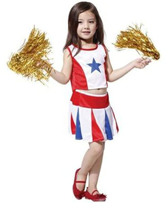 Rubber Johnnies Girls Cheerleader Costume, USA , Football , Basketball