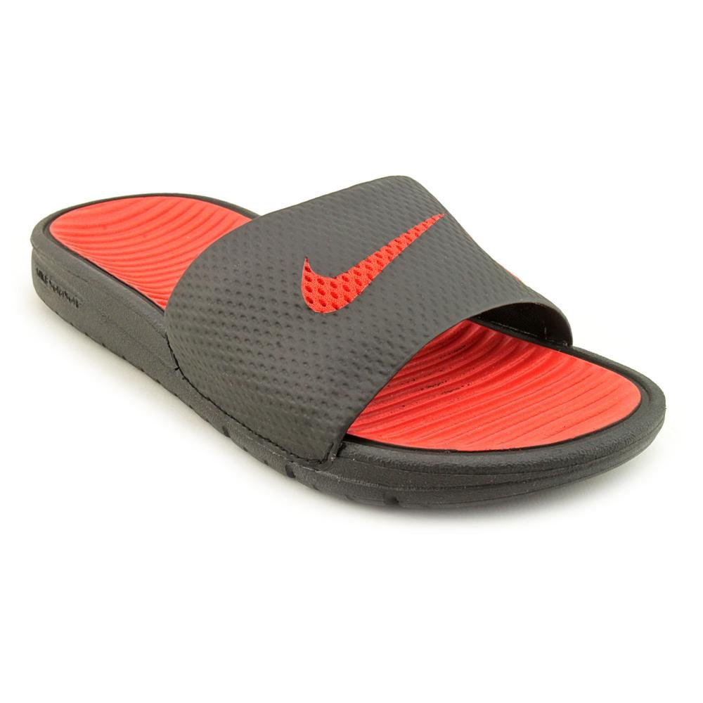 26ffd4439f4d Nike Benassi Solarsoft Slide Youth Boys Black Size 3.5 UK  Amazon.co.uk   Shoes   Bags
