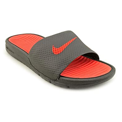 ef5ed2caa287f Nike Benassi Solarsoft Slide Youth Boys Black Size 3.5 UK  Amazon.co.uk   Shoes   Bags