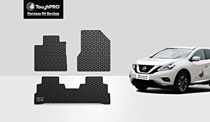 ToughPRO Nissan Murano Floor Mats 3 Pc Set   All Weather   Heavy Duty