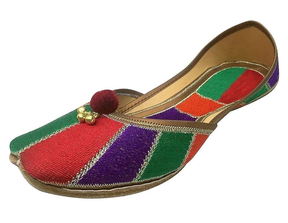 Step n Style Women's Khussa Shoes Punjabi Jutti Ethnic Mojari Flat Ballet Pakinstani Shoes DD431