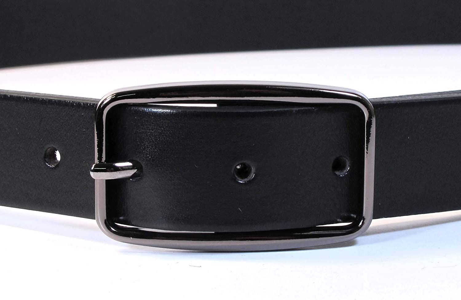 Mens Real Genuine Leather Black Belt 1.1 Wide S-L Thick Long Casual Jeans CM8