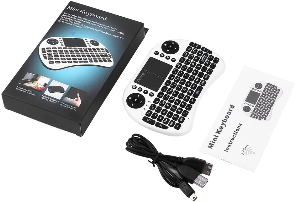 Mini Teclado Combinado de 2.4GHz con retroiluminación inalámbrica y Teclado táctil con Mouse para PC/Mac/Android/Pad/TV Box/HTPC/IPTV 92 Teclas: Amazon.es: Electrónica