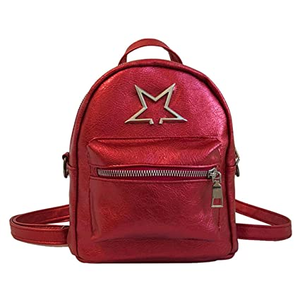 305860f2d8 Transer Fashion Leather Satchel Backpack School Bags Travel Shoulder Bag  for Women Teenage Girls (Red)  Amazon.in  Toys   Games