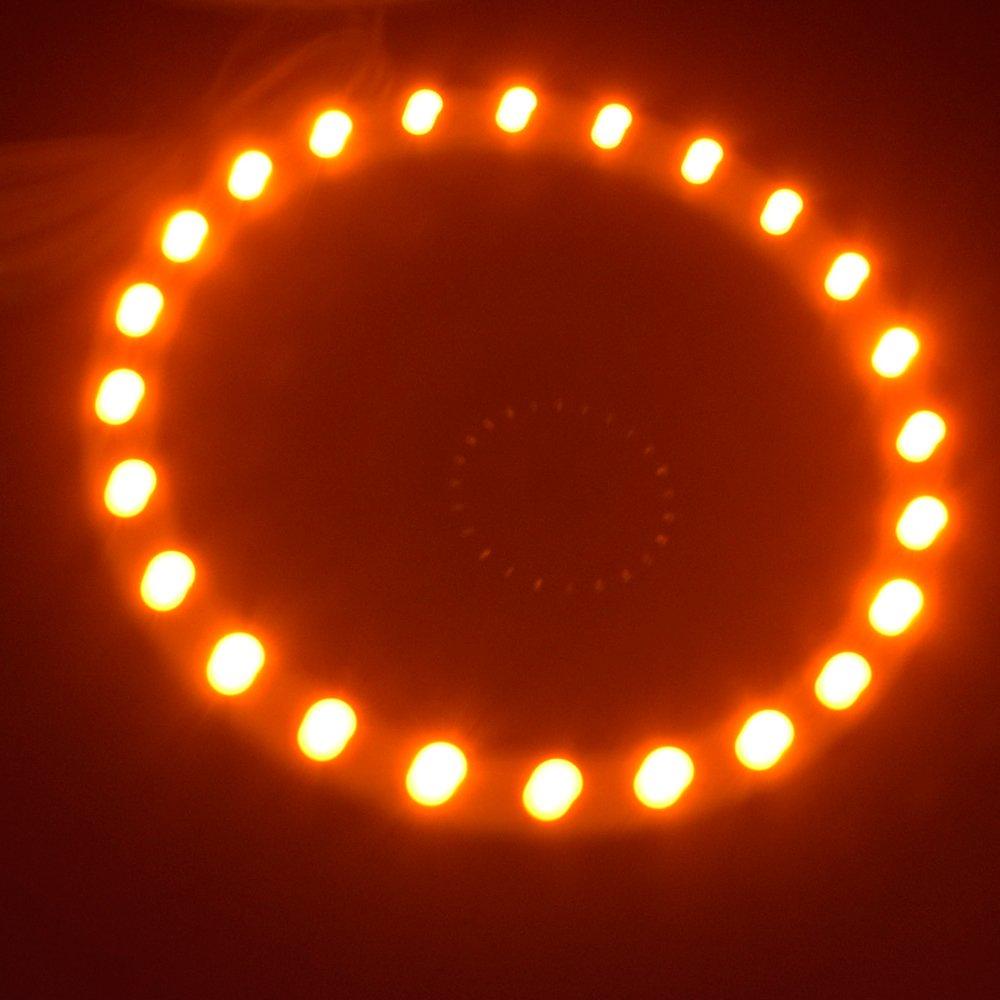 Red 2PCS x Car Led 110mm 3528 33-SMD Angel Eyes Halo Ring Light Car Headlight