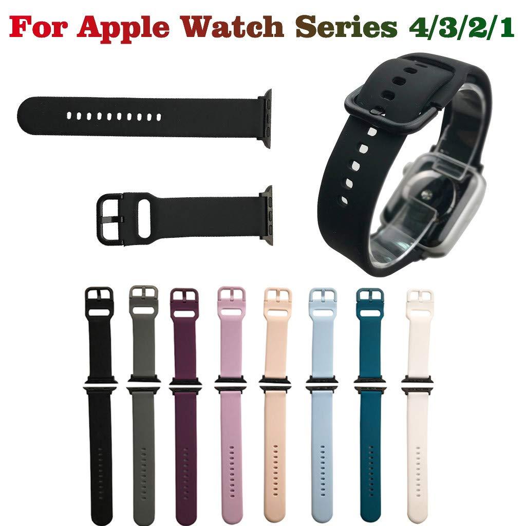 SMILEQ Para Apple para iwatch 4/3/2/1 Reemplazo de Silicona Suave ...
