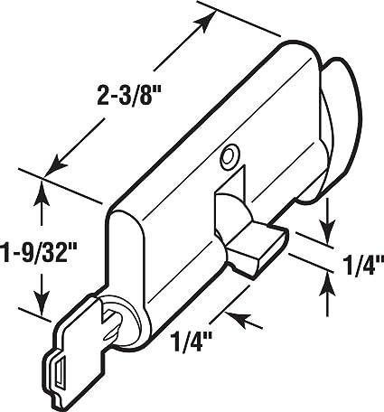 Prime Line Products K 5062 Key Cylinder Wthumbturn Solid Brass