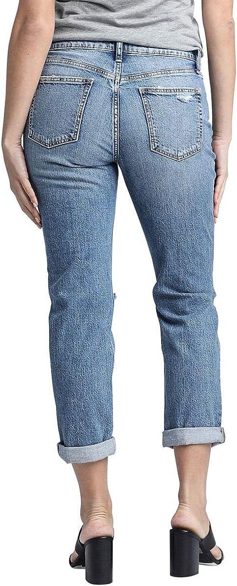 Womens Plus Size Not Your Boyfriends Mid Rise Jeans Silver Jeans Co