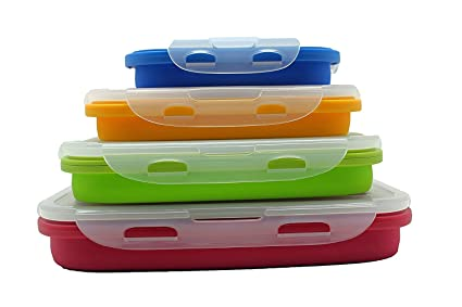 Amazoncom Sailing Elegant Collapsible Silicone Lunch BoxContainer