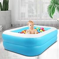 InLoveArts Piscina Hinchable Cuadrada Juguete de rociado de Agua de Juego al Aire Libre de Verano para Familia niños…