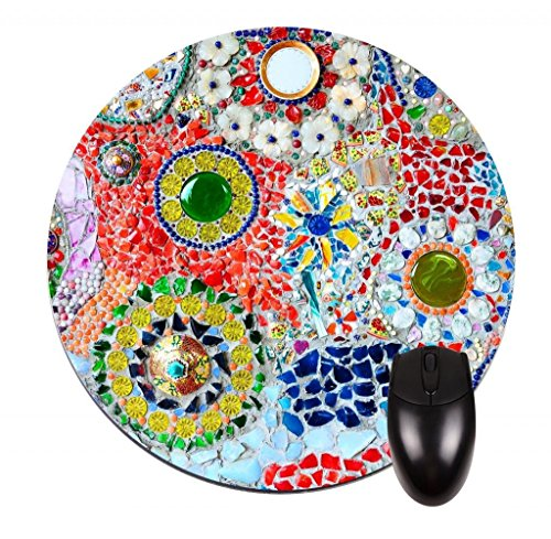 FineMousePad Mosaic Tiles Personalized Custom Design Round Mouse Pad in 8