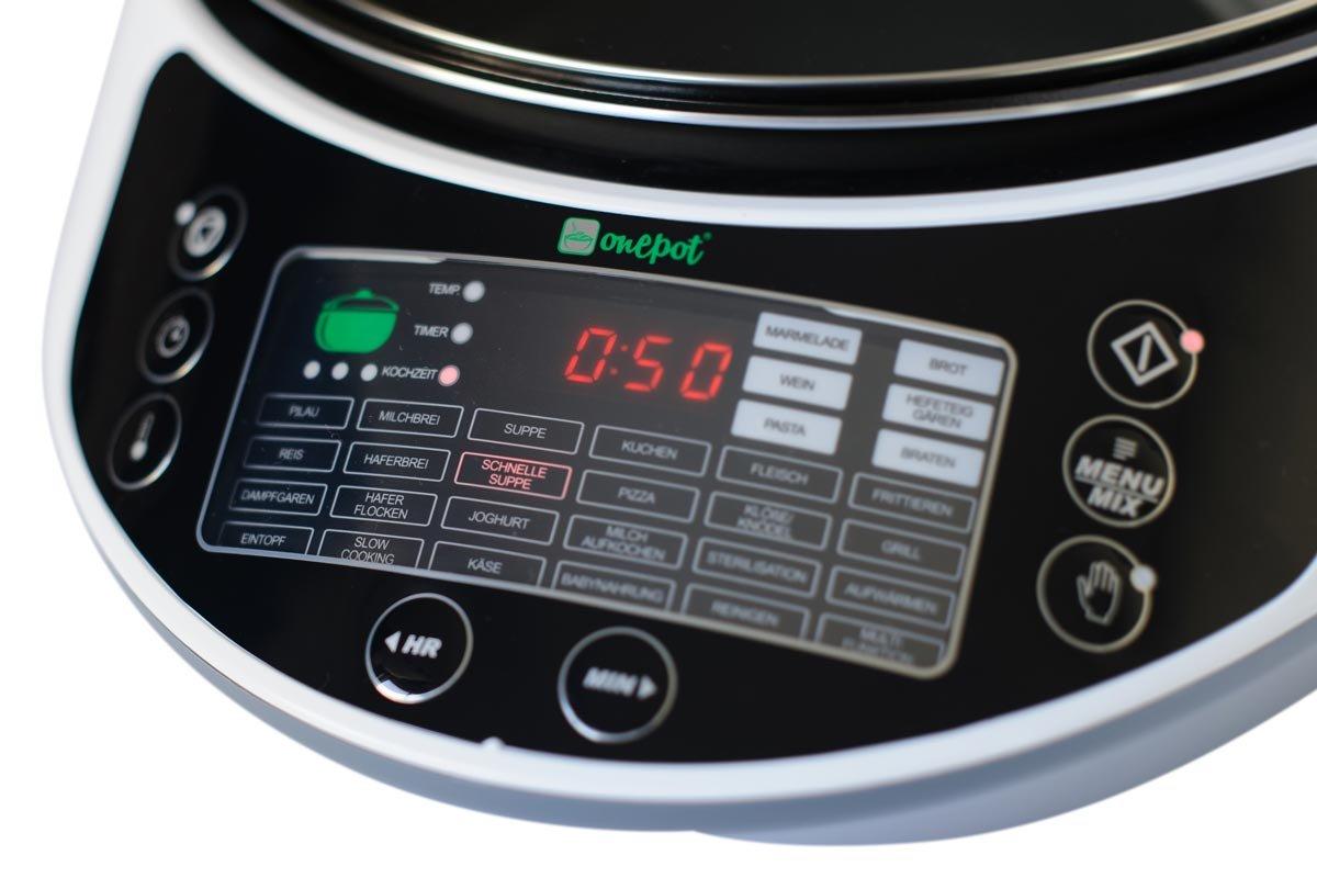ONEPOT - la olla multifuncional, robot de cocina y cacerola eléctrica - 31 en 1 - programas para cocinar a presión, sofreir, fritar, asar, rehogar, saltear, ...