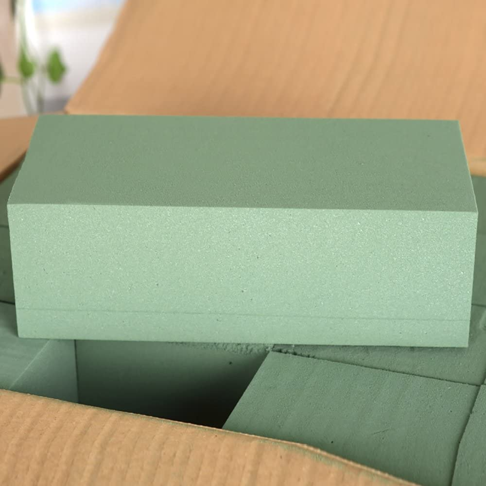 10PCS Florist Flower Styrofoam Green Craft Bricks for Fresh Cut Floral Arrangements Home Decorations XINdream Floral Foam Blocks