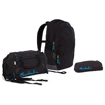 be24fed0e3 Satch Sleek Black Bounce Schulrucksack Set 3tlg. inkl PenBox und Sporttasche