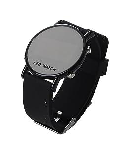 TOOGOO(R)Silicone LED wristwatch Watch Men Sport clock black strap