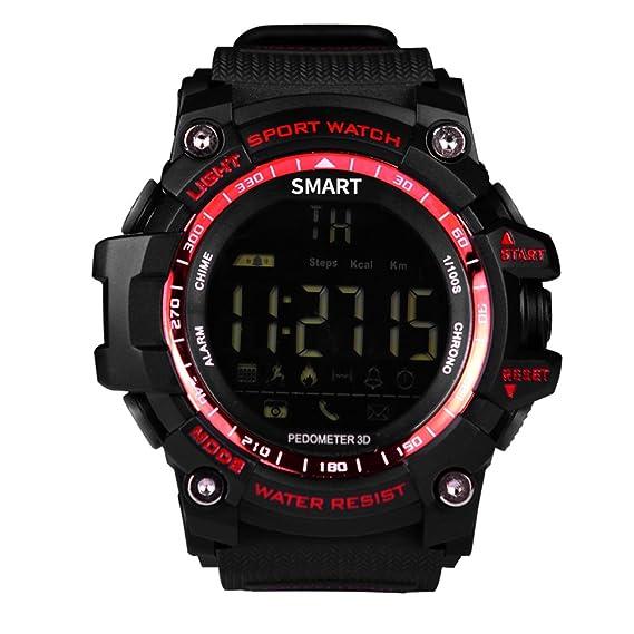 Smartwatch Andorid o IOS Demiawaking Podómetro Notificación de Llmadas SMS con WhatsApp Reloj Inteligente Actividad Hombres Deportivo Resistente al ...