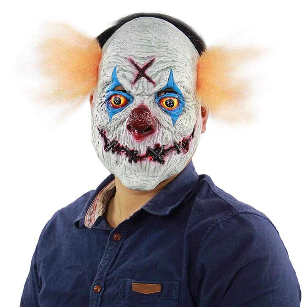 Circlefly Halloween Horror Venganza Payaso '-Mascara Pascua Traje Fiesta Horror Peluca
